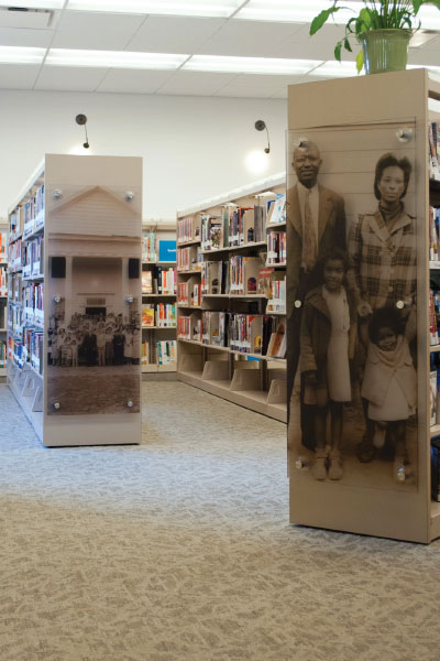 library historic photo display
