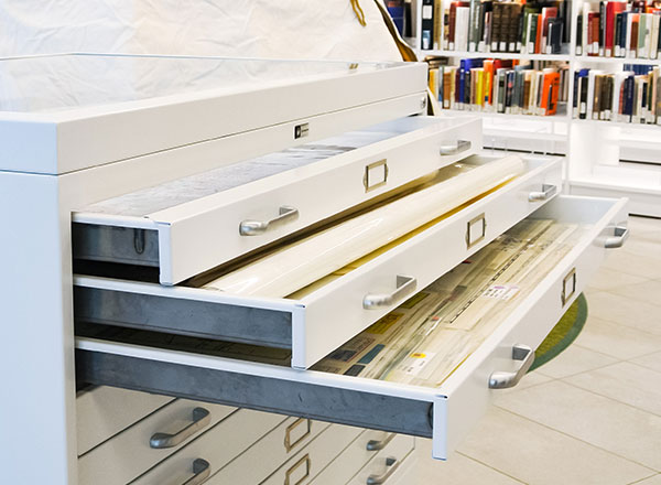 library moveable flat file collection storage