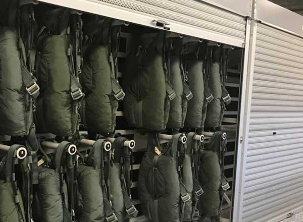 military secure roll down doors