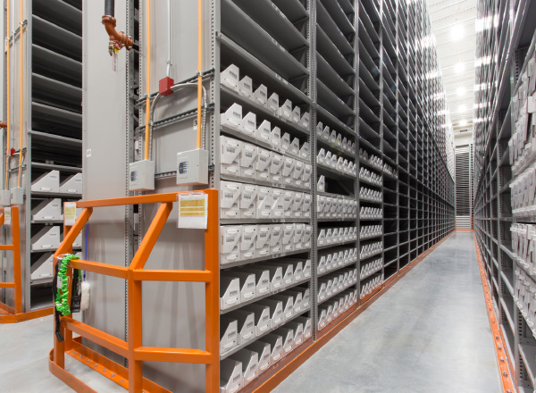 off-site library storage extra tall shelving systems