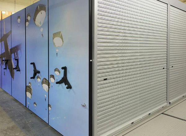secure compact moveable shelving systems