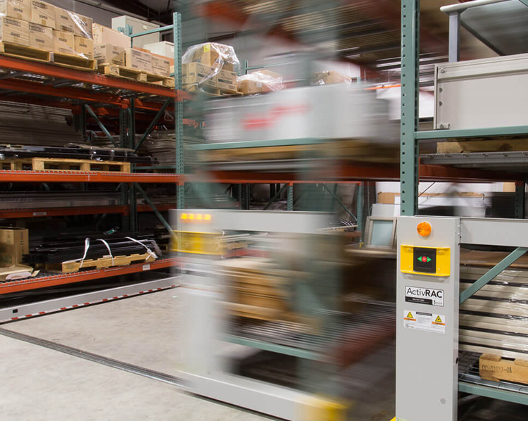 mobile warehouse moveable shelves