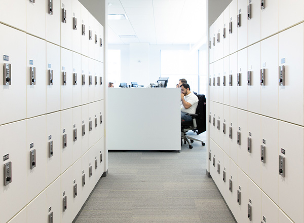 employee lockers with digital locks