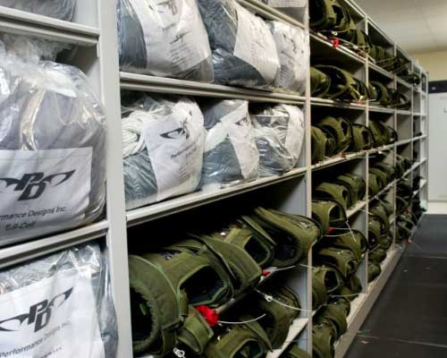 military ppe steel shelving storage