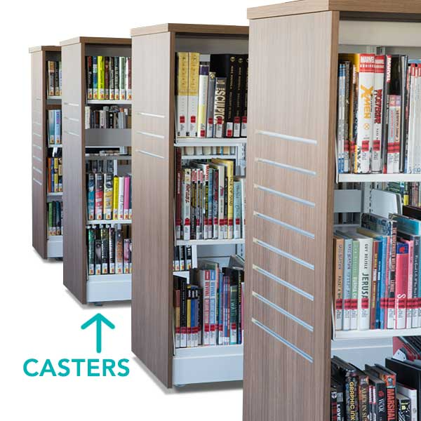 moveable library shelving - shelving on casters