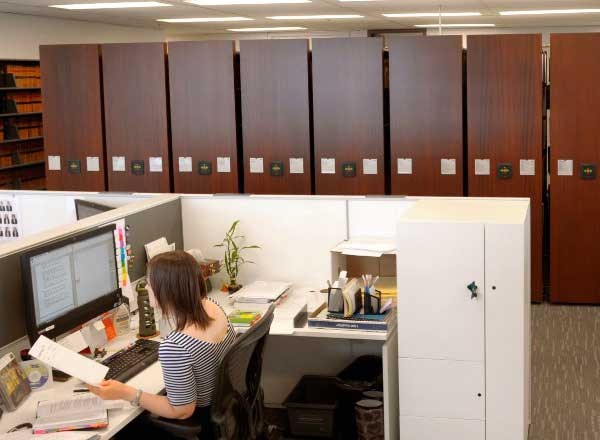 office moveable high-density storage systems