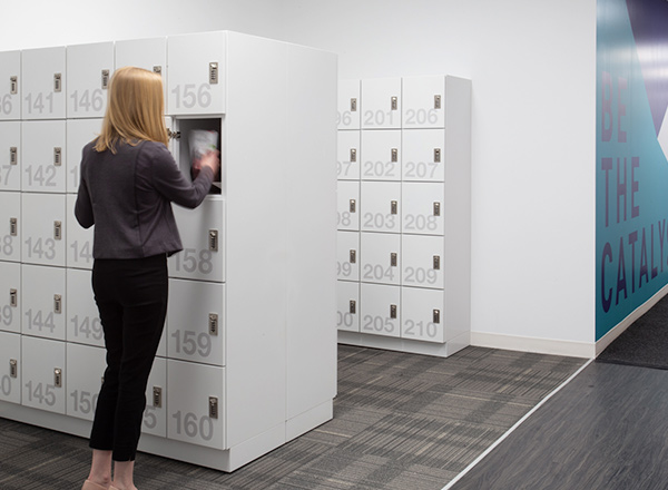 secure employee personal lockers