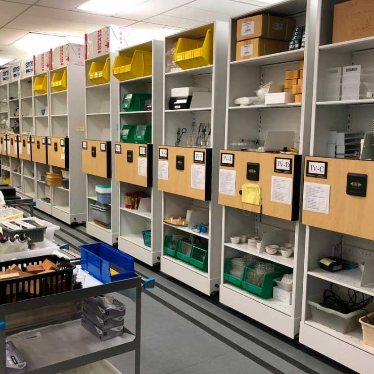 university lab equipment storage