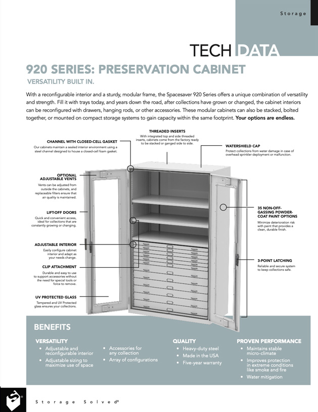 download tech data 920 museum cabinets series