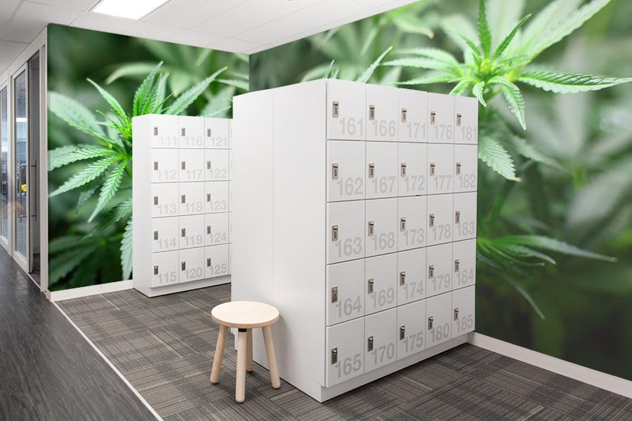indoor farming facility personal locker