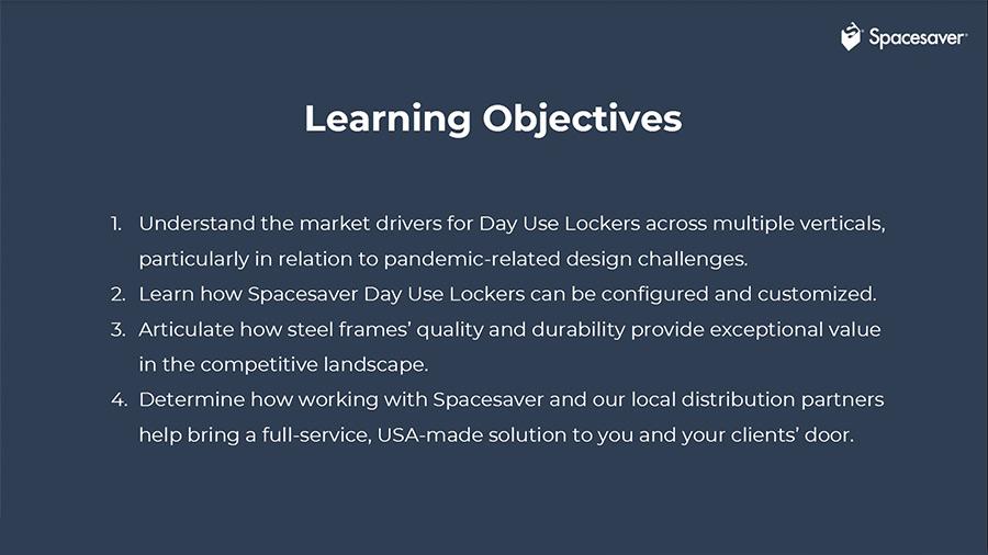 day use locker product presentation