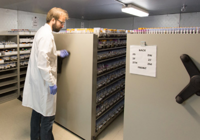 medical lab cold storage shelving solutions