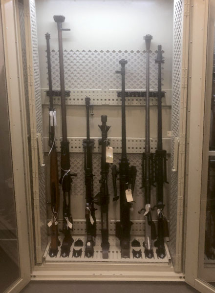 army weapon storage cabinets
