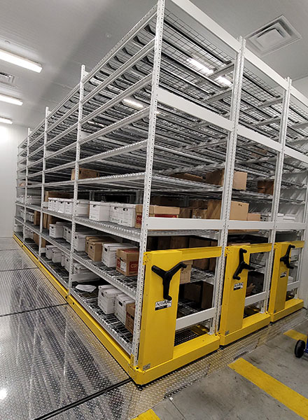 compact cold storage shelving systems