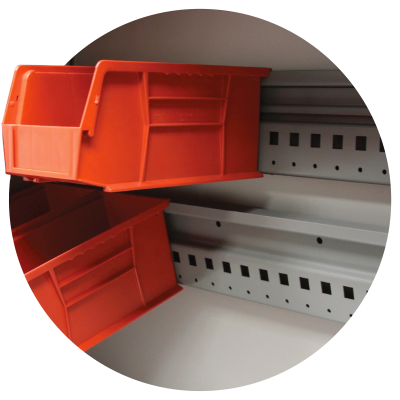 related product ez rail and bin shelving accessory