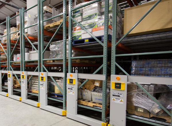 campus warehouse compact pallet shelving system