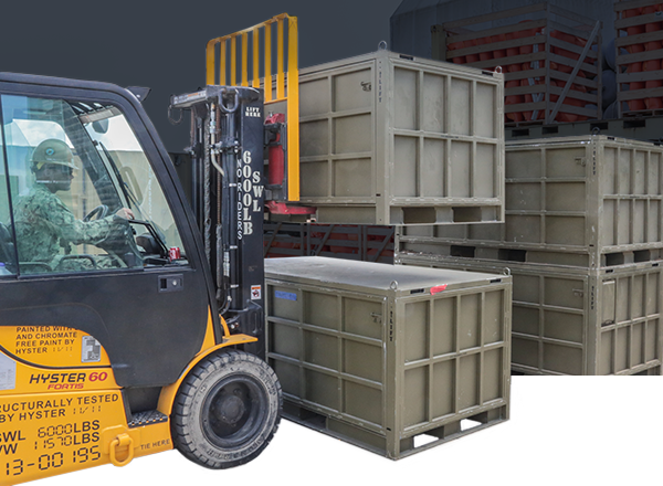 military cargo pallet crate