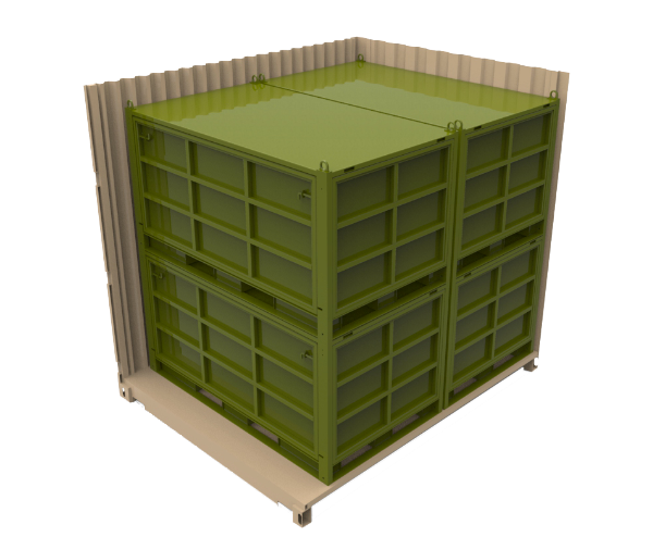 military metal shipping crate