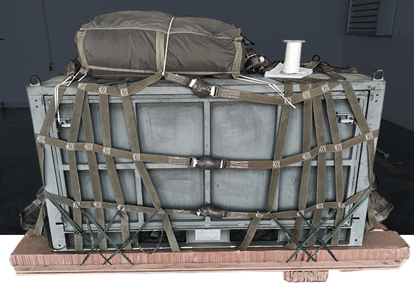 military steel transport container