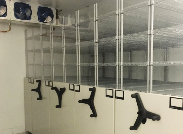vaccine cold storage shelving system