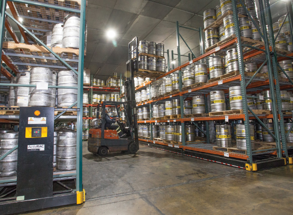 brewery compact cold storage shelving