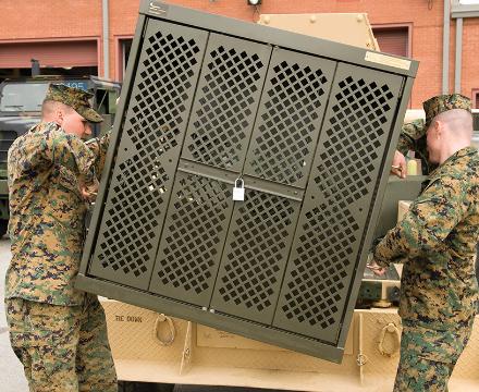 deployable weapon rack storage