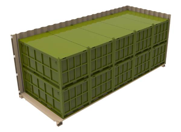 intermodal transport military metal crate