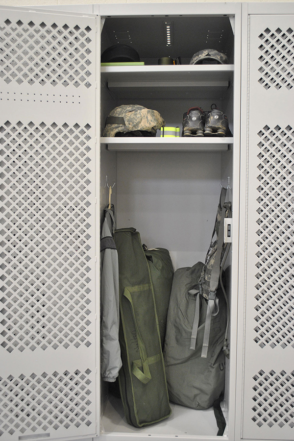 national guard personal equipment storage