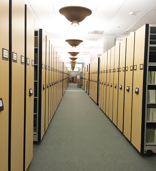 spacesaver system electric shelving upgrade