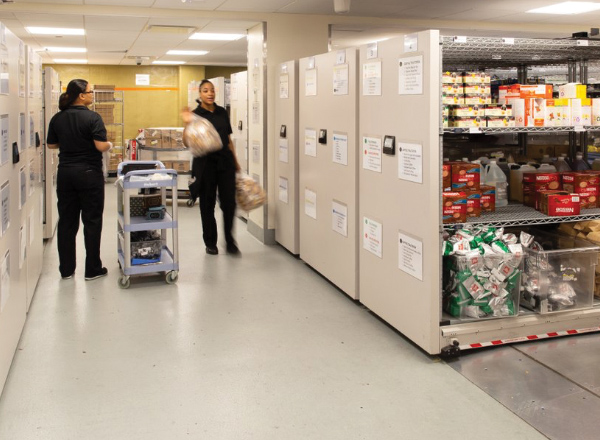restaurant food cold storage shelving systems