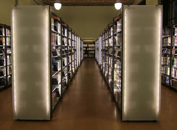 spacesaver cantilever library shelving