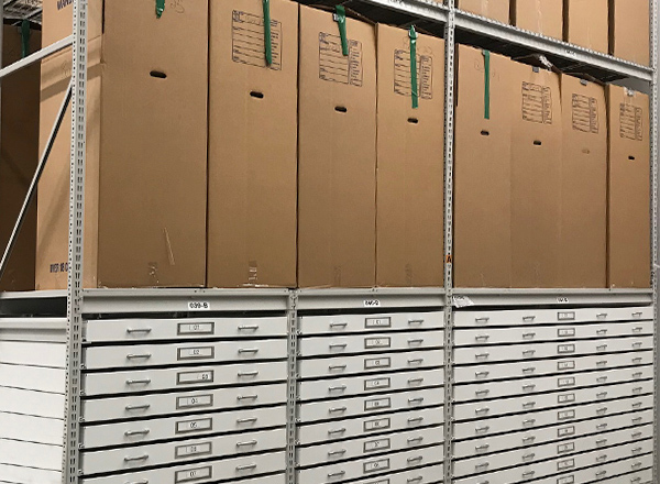 spacesaver museum shelving storage