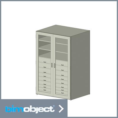bimobject shelving tray drawer glass cabinet