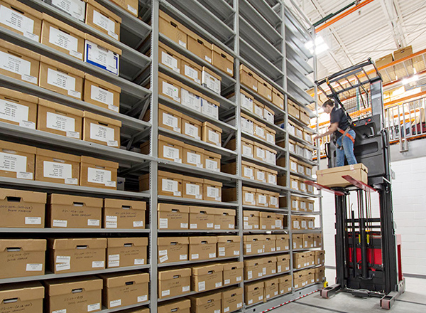 evidence warehouse moveable steel shelving systems