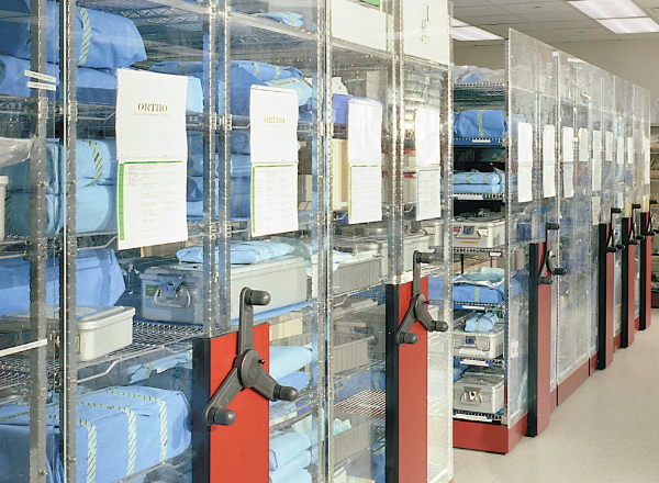 spacesaver wire shelving medical supply storage