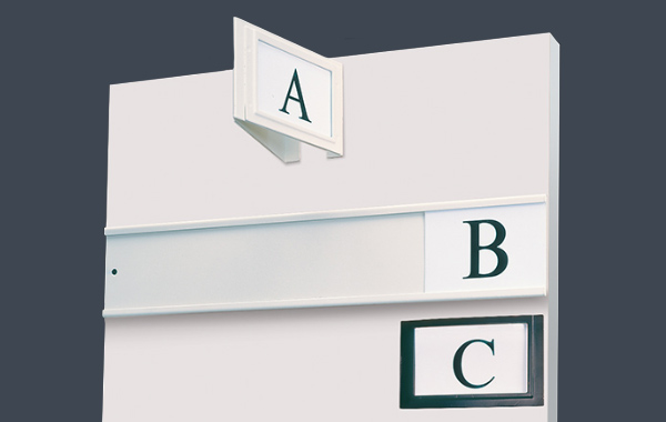 cantilever shelving label accessory