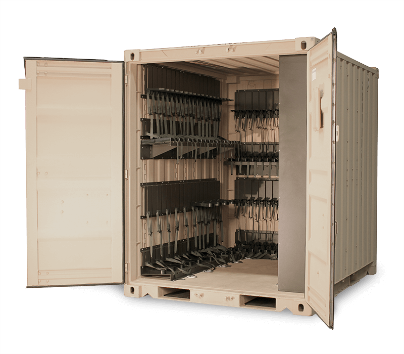 universal expeditional weapon storage system