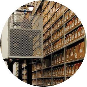 high-bay library shelving case study