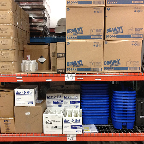 ppe warehouse campus shelving systems