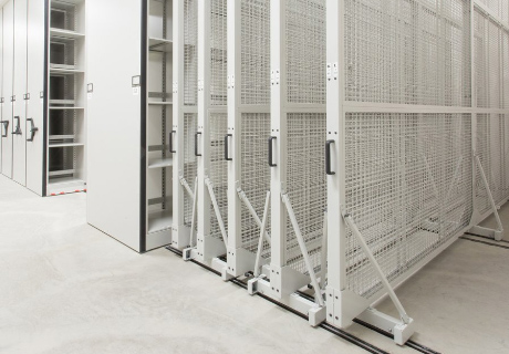 archival collection hanging art rack storage