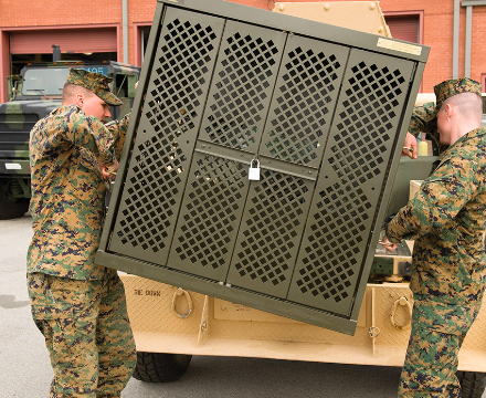 deployable weapon cabinet
