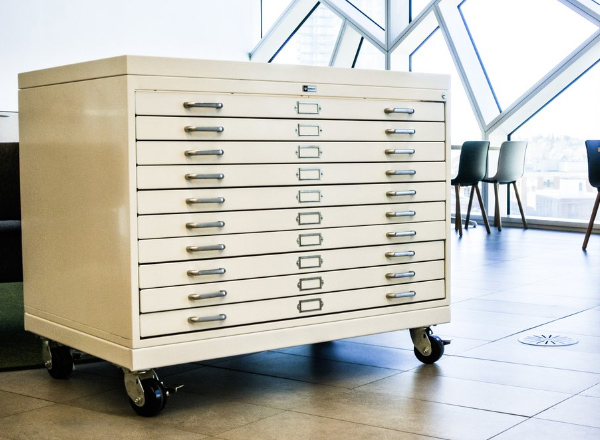 rollable flat file cabinet
