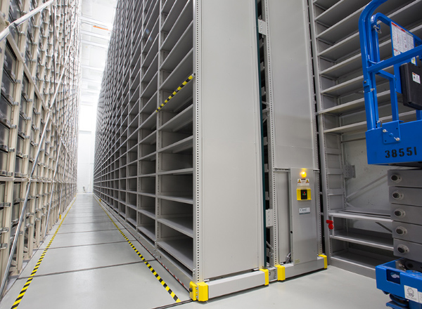 off-site library powered high bay