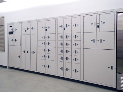Short-term evidence storage lockers at Franklin Police Department