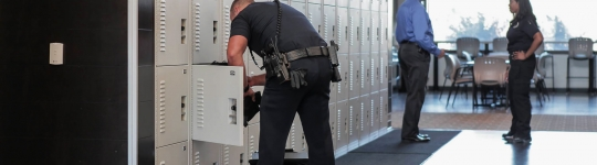 Tactical Gear Storage Lockers at Parker PD
