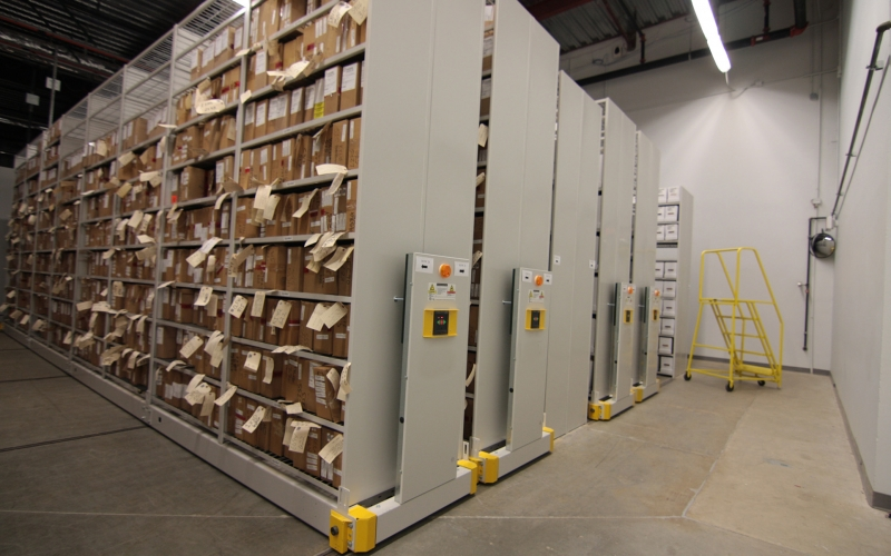 ActivRAC Evidence Storage Racking System for long-term evidence at Houston Police Department
