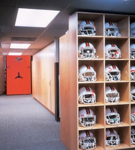 Canes Football Utilizes Mobile Systems for Football Equipment Storage