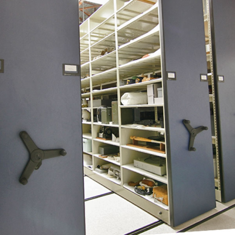 Items being stored on Mechanical Assist at Naval Undersea Museum
