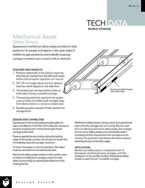 Safety Sweep for Mechanical Assist Operation Tech Data