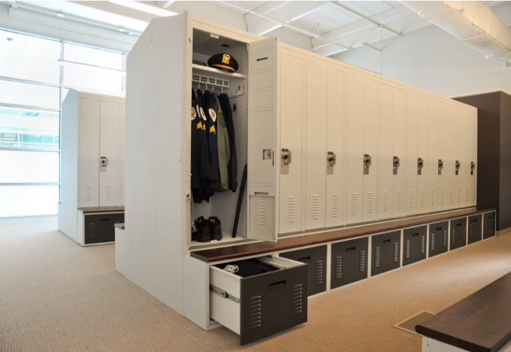 Freestyle Configurable Personal Storage Lockers With Benches And Drawers Skokie Illinois